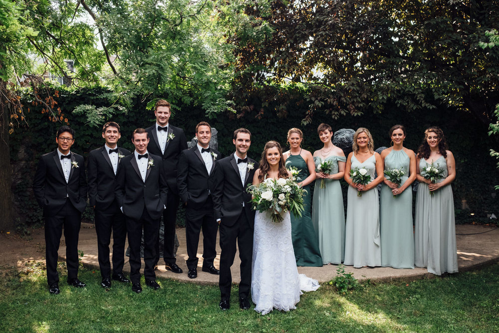 Light Green and Black Bridal Party Chicago Wedding Cling & Peck