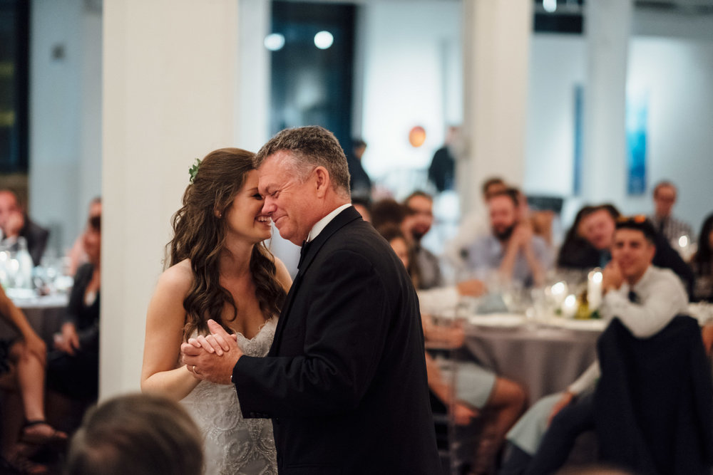 Bride and Father Dance Chicago Wedding Cling & Peck