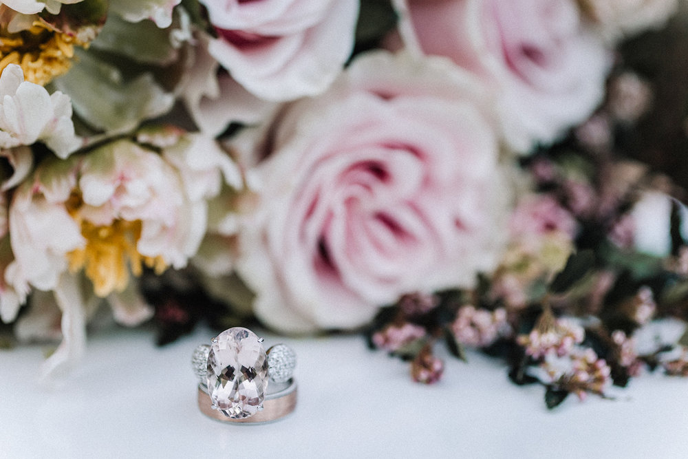 Romantic Rose Engagement Ring Chicago Wedding lisa kathan photography