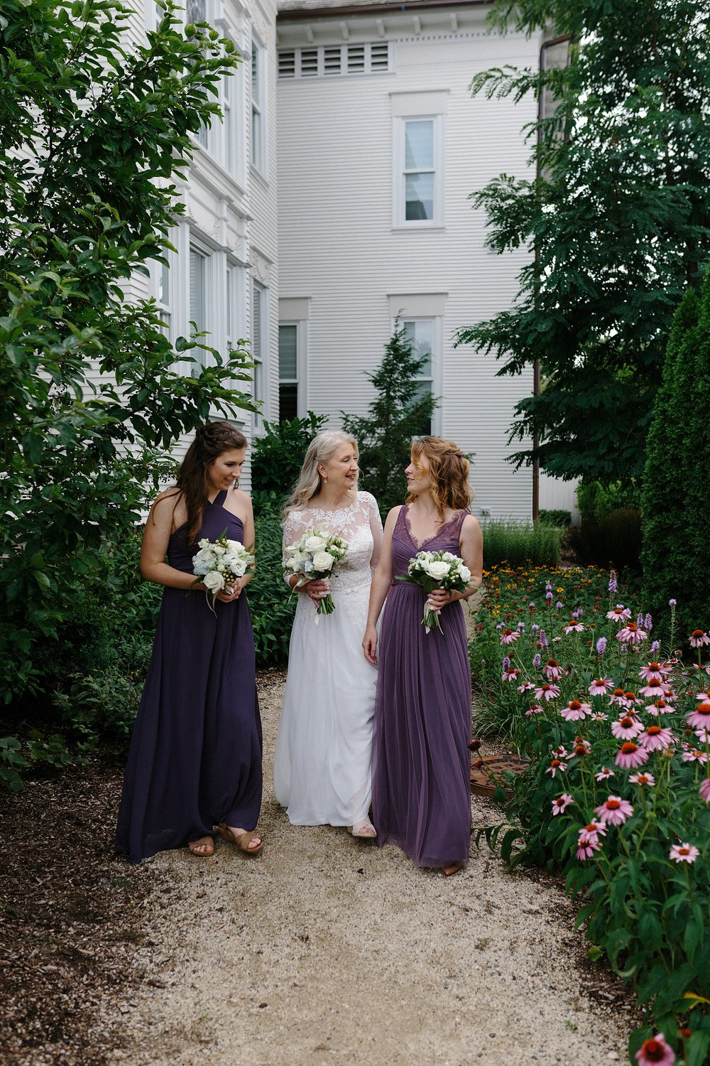 Floral Wedding Gown Purple Bridesmaid Gowns Chicago Wedding lisa kathan photography