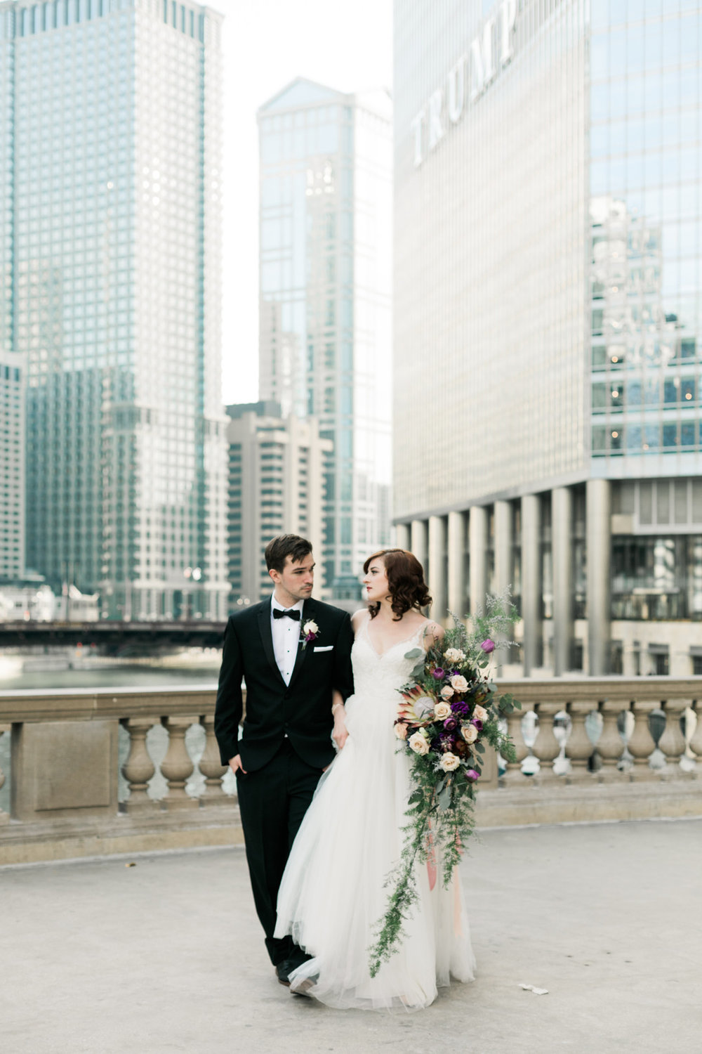 Bride and Groom Portrait Chicago Wedding Stephanie Wood Photography