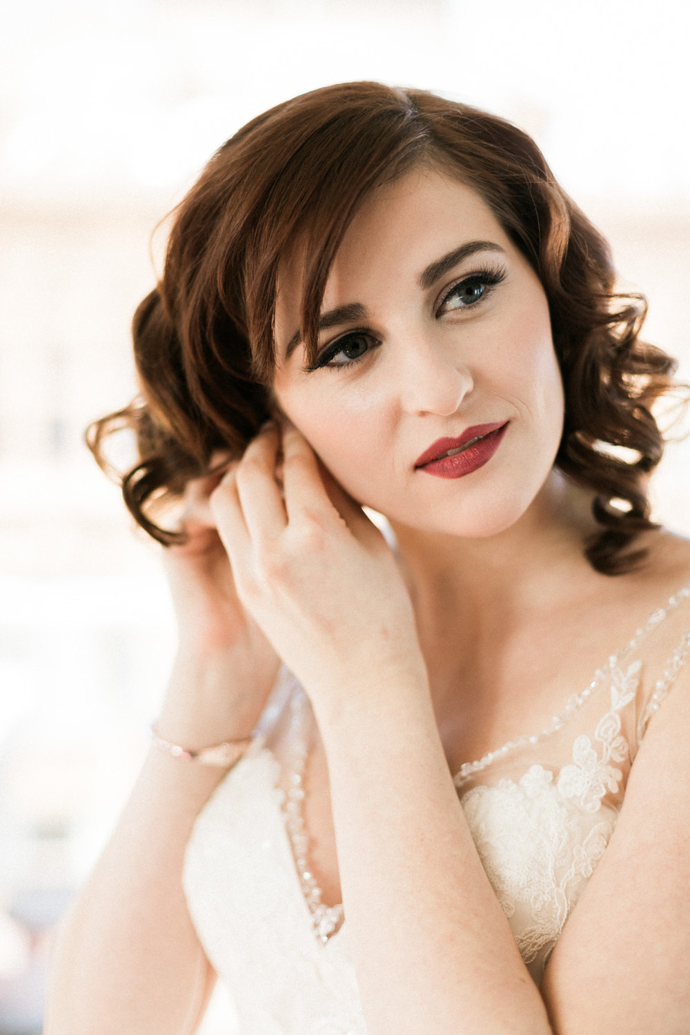 Romantic Bridal Portrait Chicago Wedding Stephanie Wood Photography