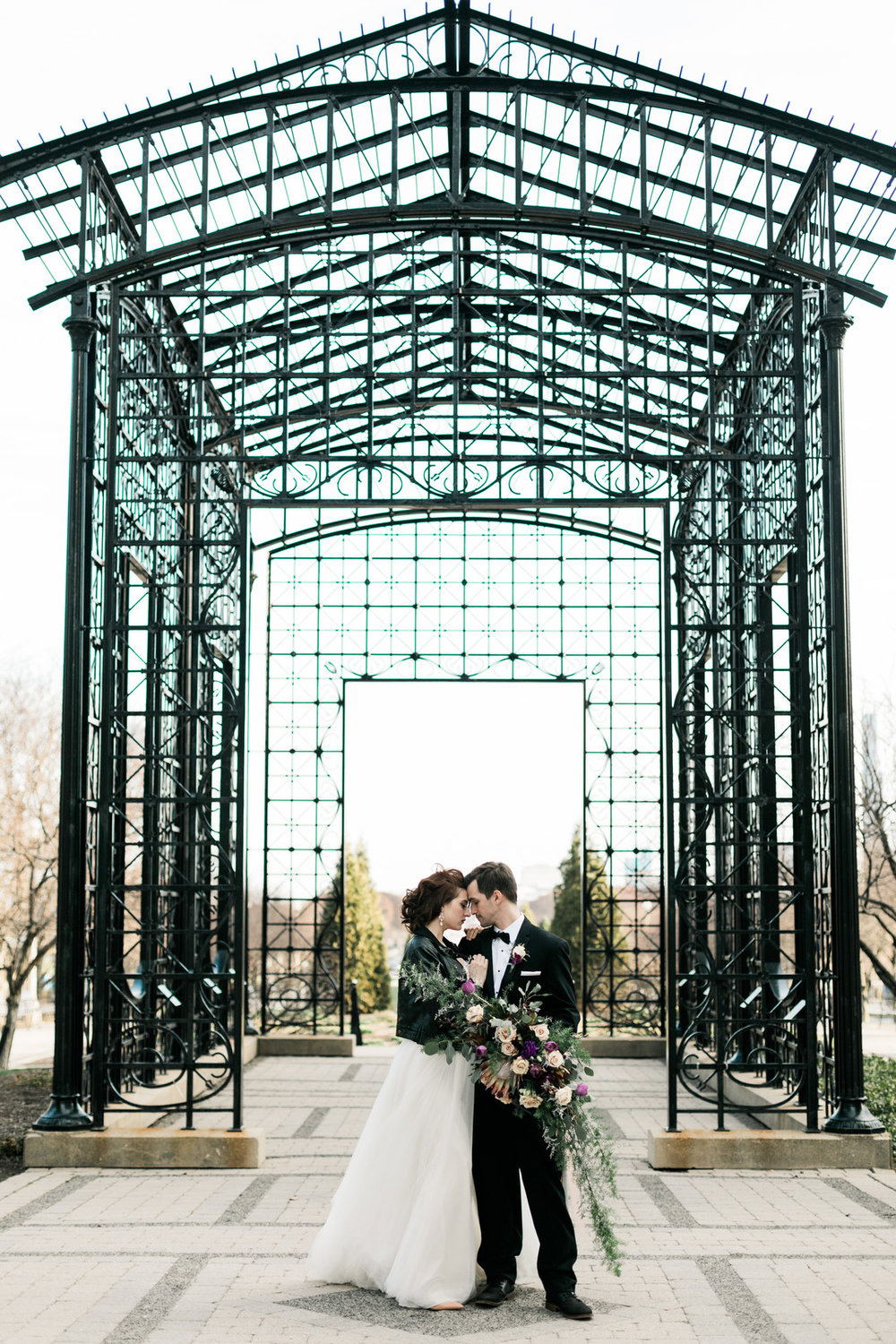 Romantic Bride and Groom Portrait Chicago Wedding Stephanie Wood Photography