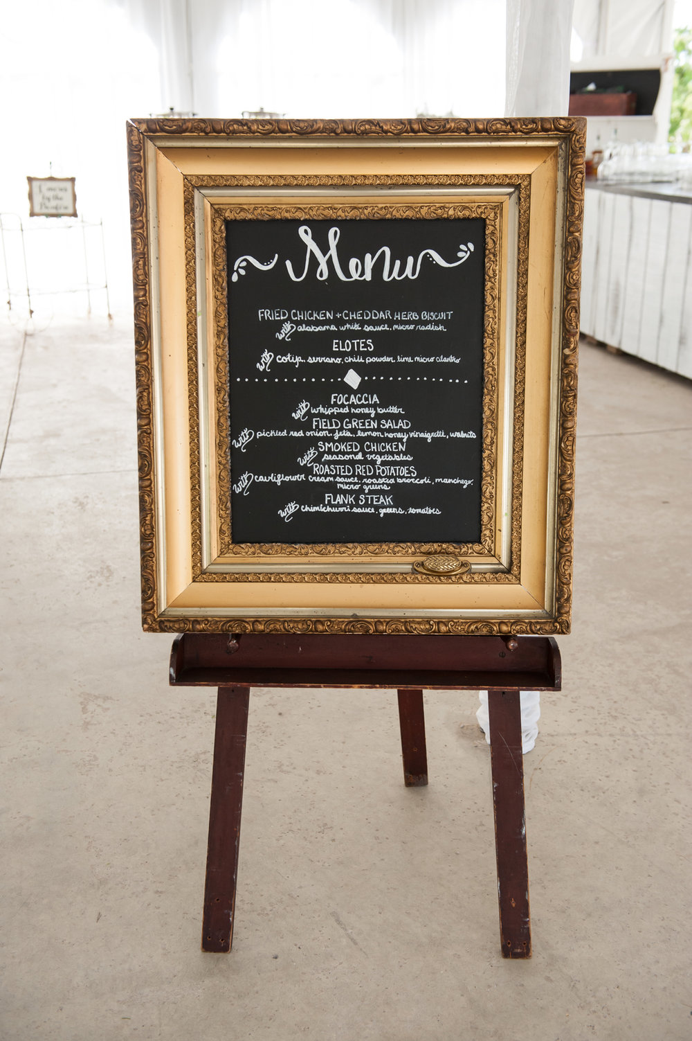 Rustic Menu Sign Chicago Farm Wedding Elite Photo