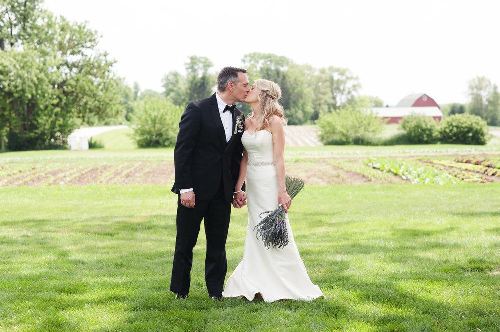 Bride and Groom Portrait Chicago Farm Wedding Elite Photo