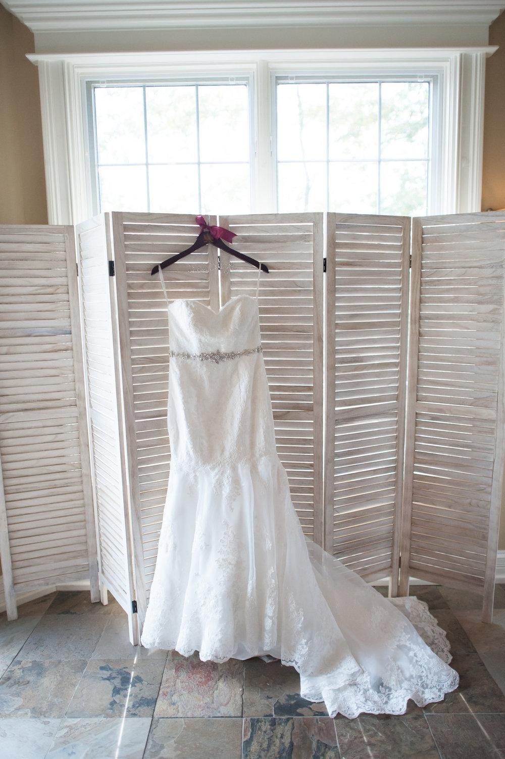 Lace Fit and Flare Wedding Dress Chicago Wedding Elite Photo