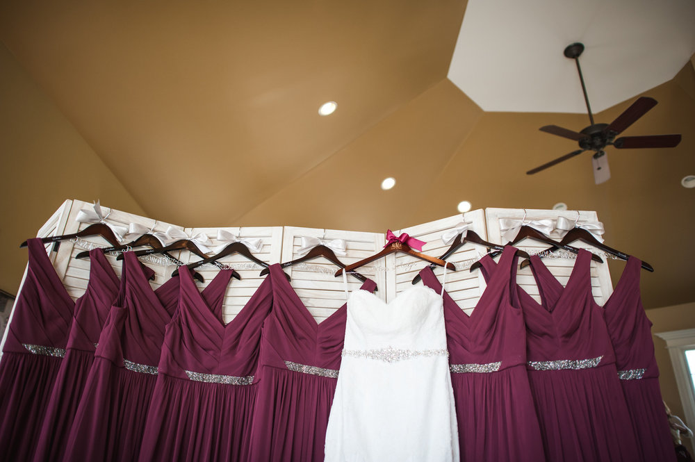 Red Purple Bridesmaid Gowns Chicago Wedding Elite Photo