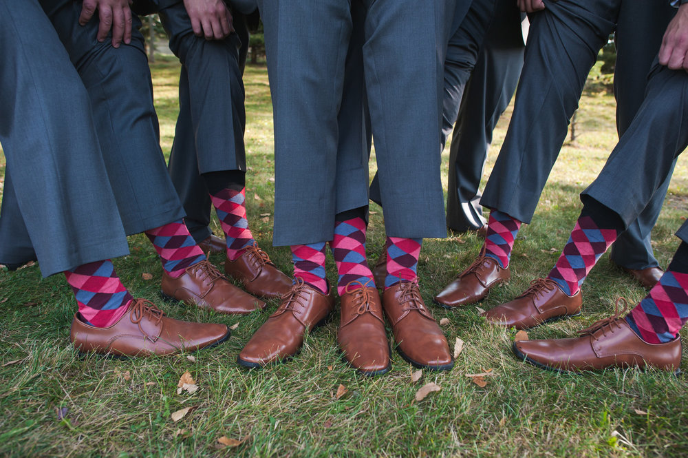 Gray Groomsmen Suits and Fun Socks Chicago Wedding Elite Photo