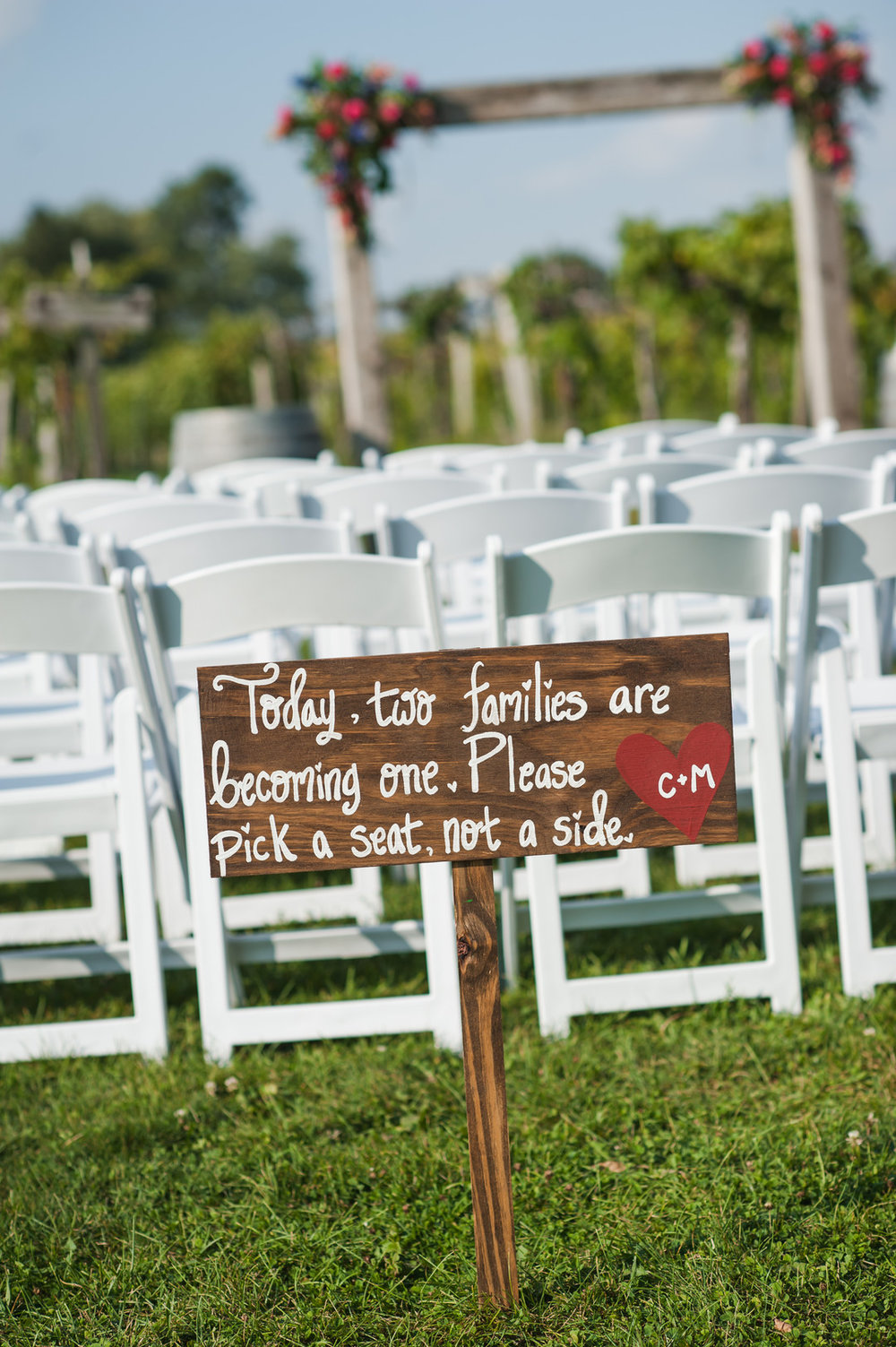 Wooden Ceremony Sign Chicago Winery Wedding Elite Photo