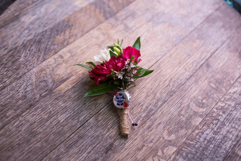 Boutonniere Chicago Winery Wedding Elite Photo