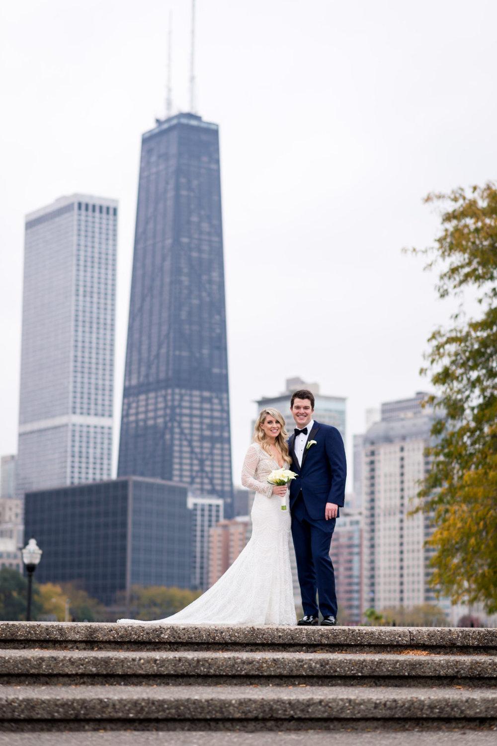 Romantic Bride and Groom Portrait Chicago Wedding Julia Franzosa Photography