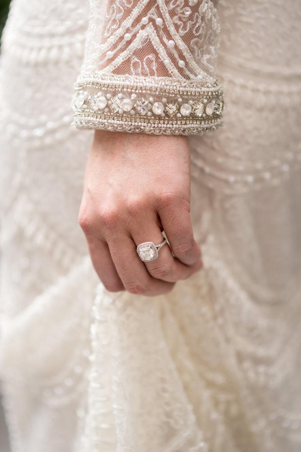 Cushion Cut Engagement Ring Chicago Wedding Julia Franzosa Photography