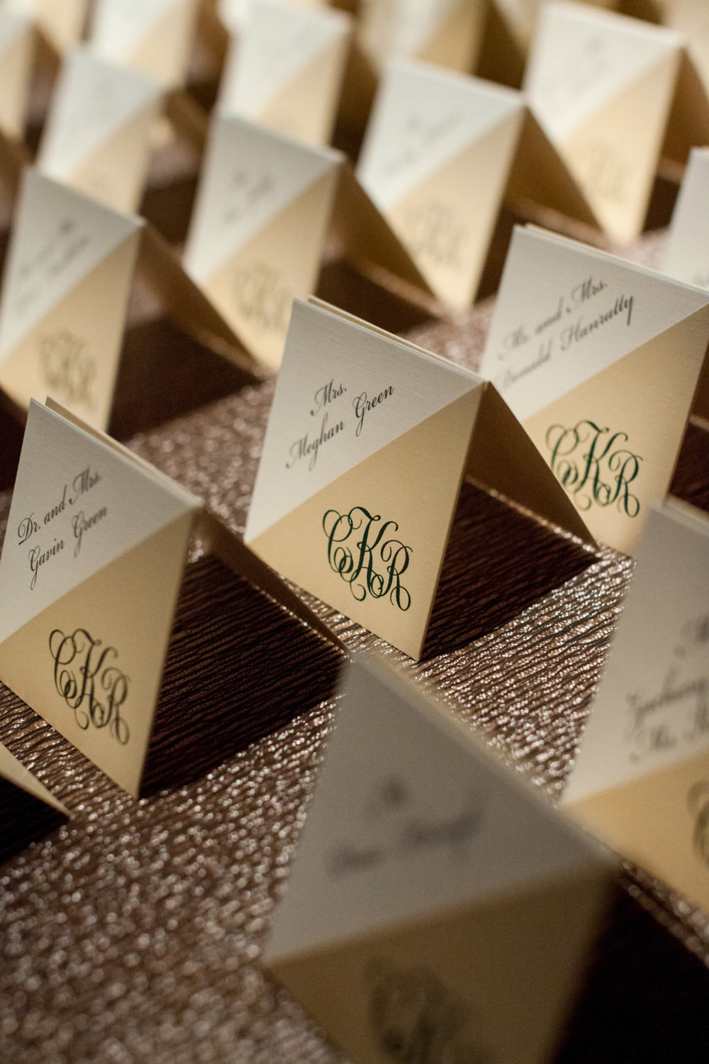 Wedding Place Cards The Standard Room Chicago Wedding Julia Franzosa Photography