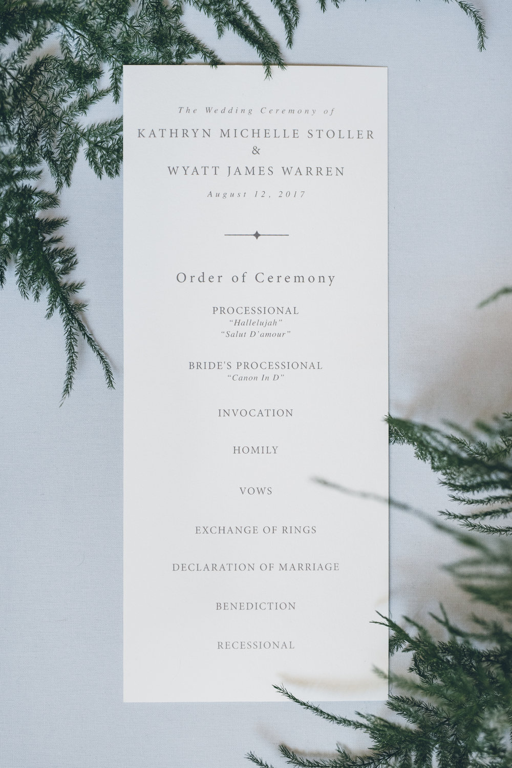 Greenery Wedding Invitation Chicago Wedding Ed and Aileen Photography