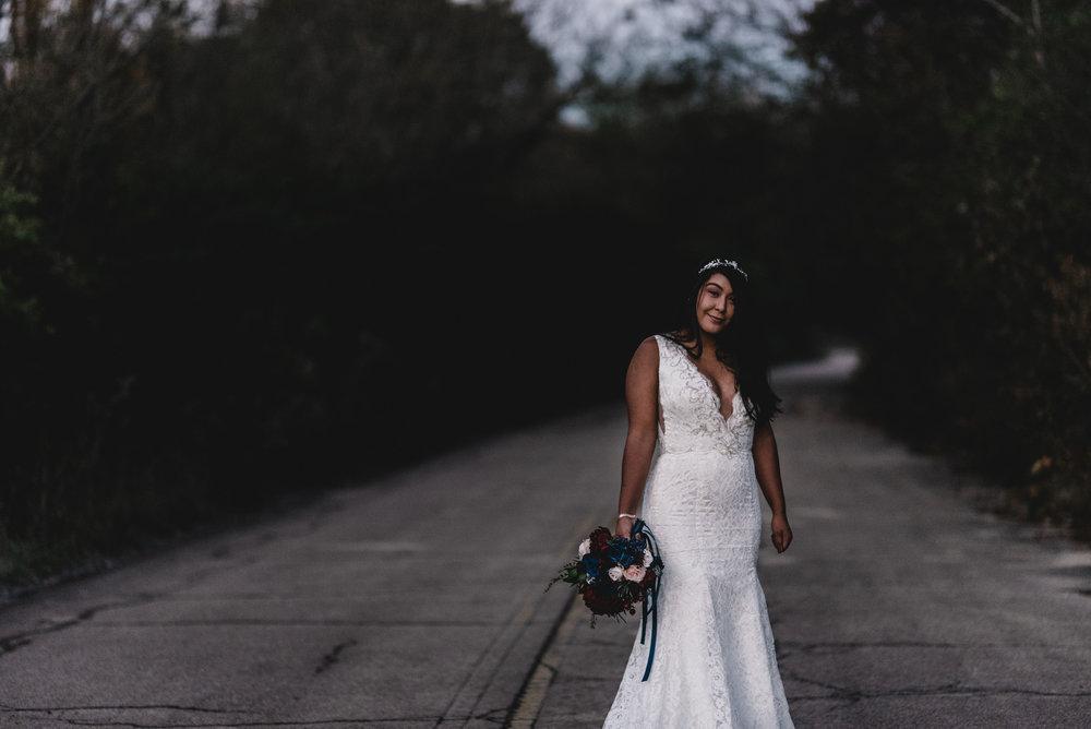 Bridal Portrait Chicago Elopement Jenn Marie Photography