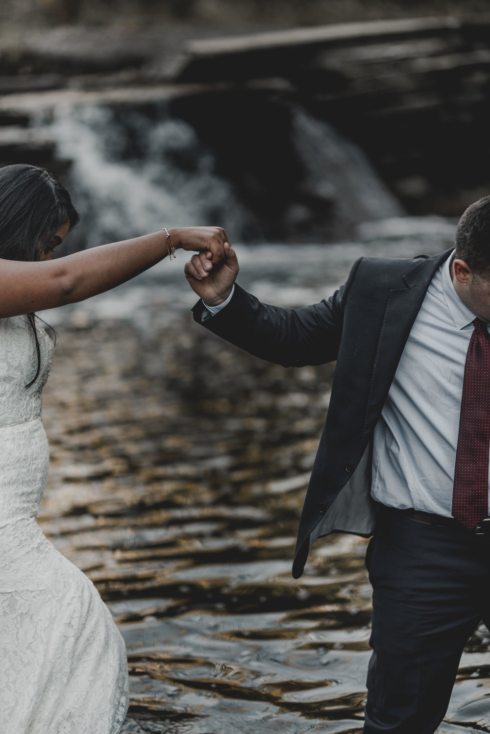 Bride and Groom Candid Chicago Elopement Jenn Marie Photography