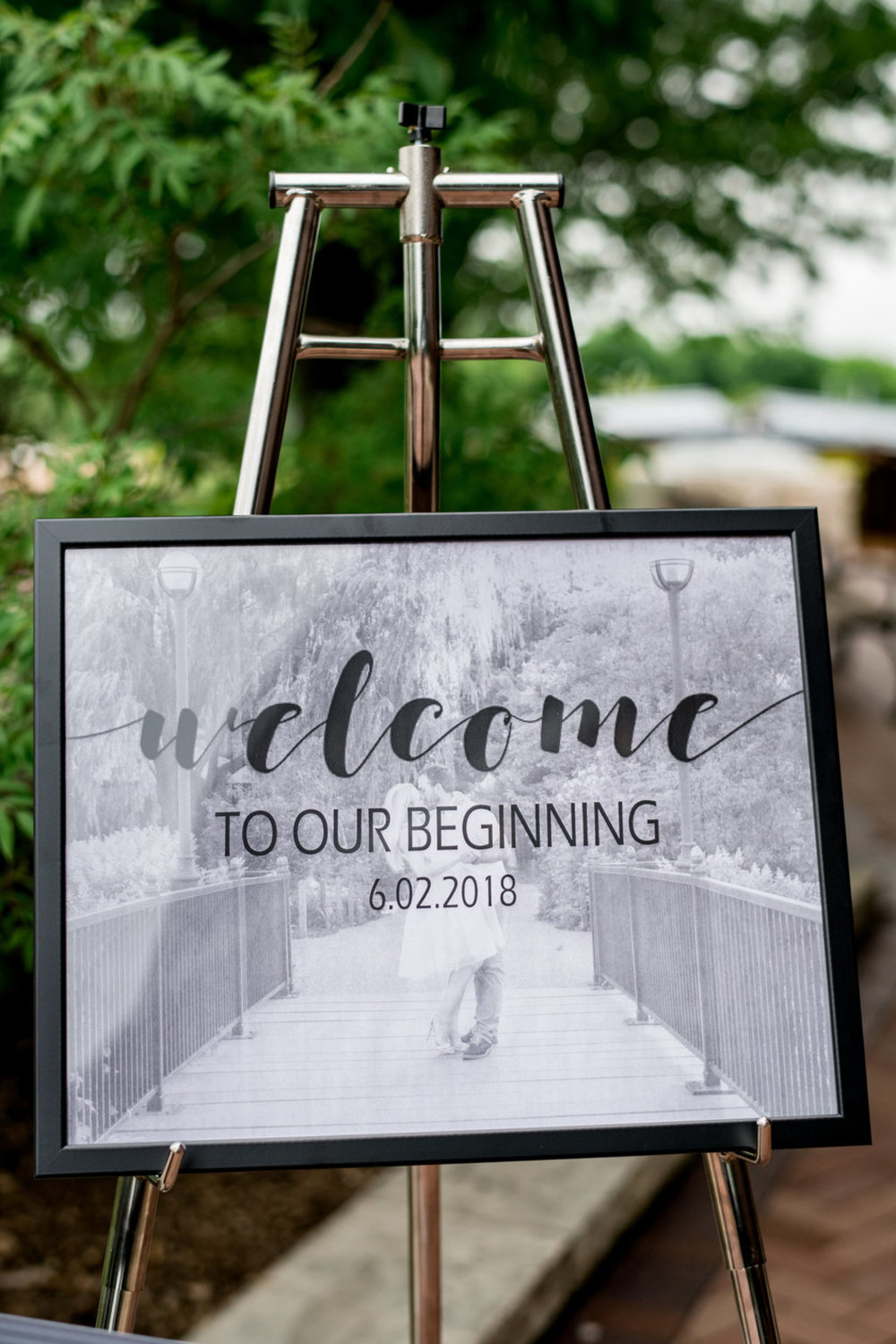 Wedding Welcome Sign Chicago Wedding Julia Franzosa Photography