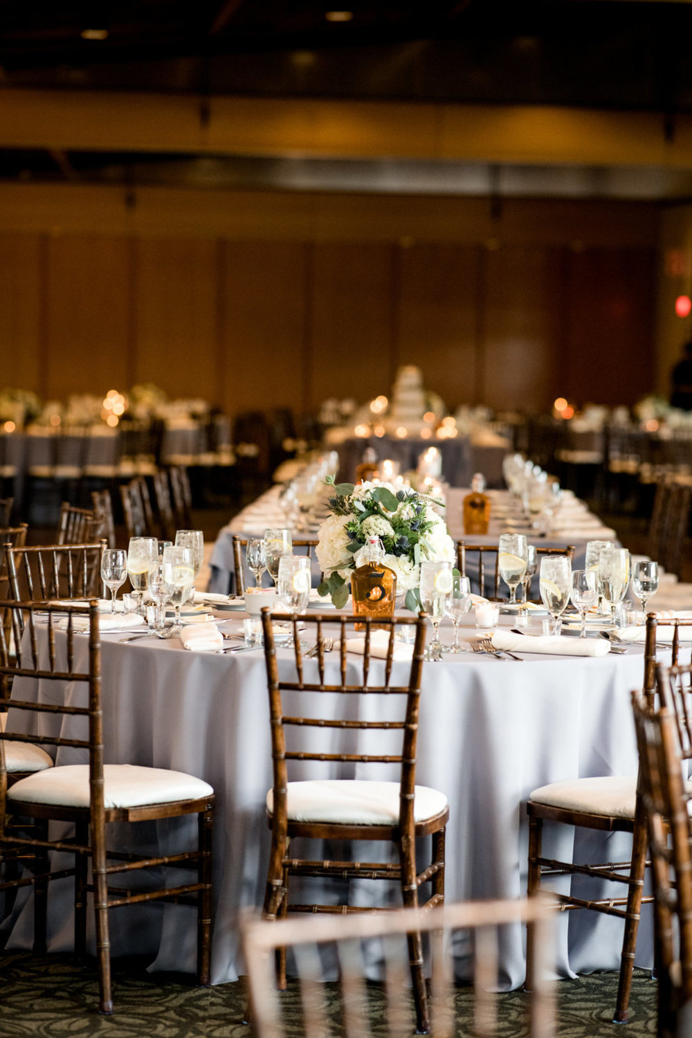 Table Arrangements Chicago Wedding Julia Franzosa Photography