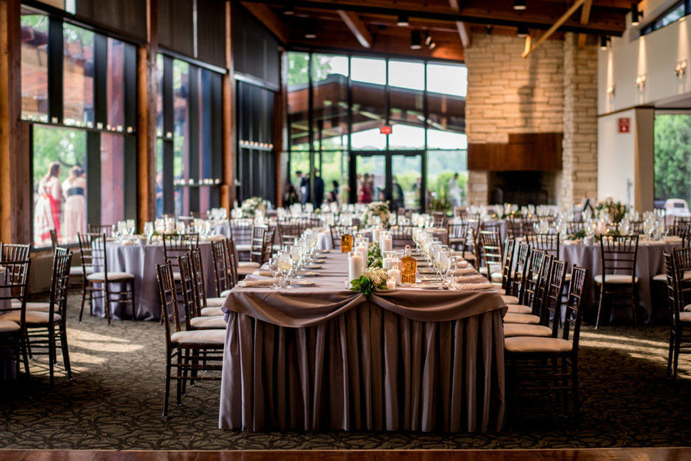 Reception Layout Independence Grove Audubon Hall Julia Franzosa Photography