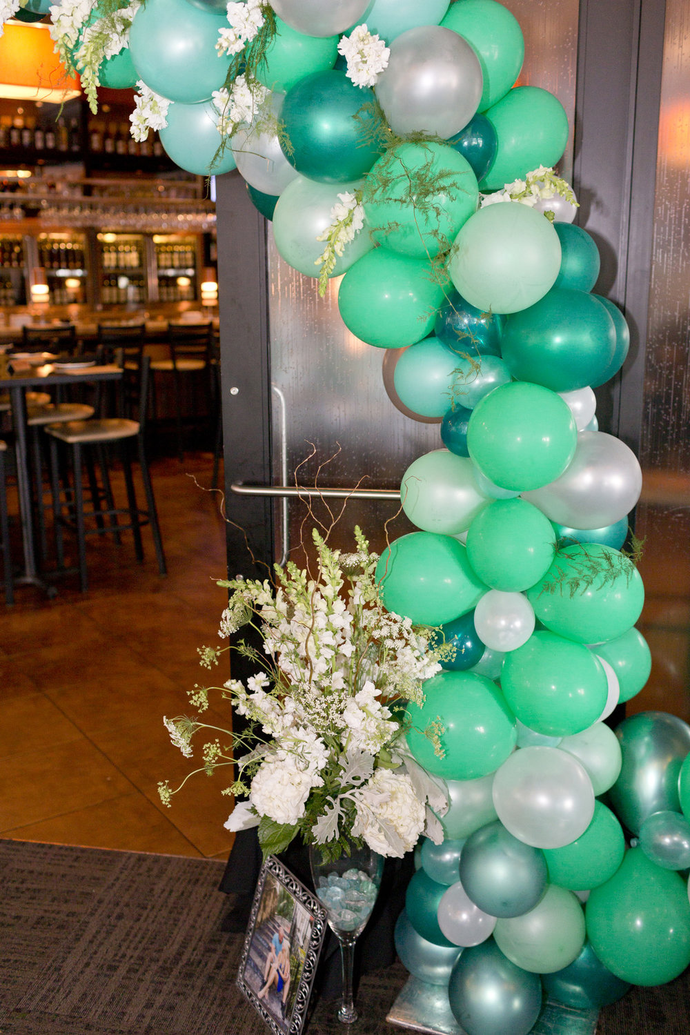 Balloon Arch Mint Green Bridal Shower Degrees North Images