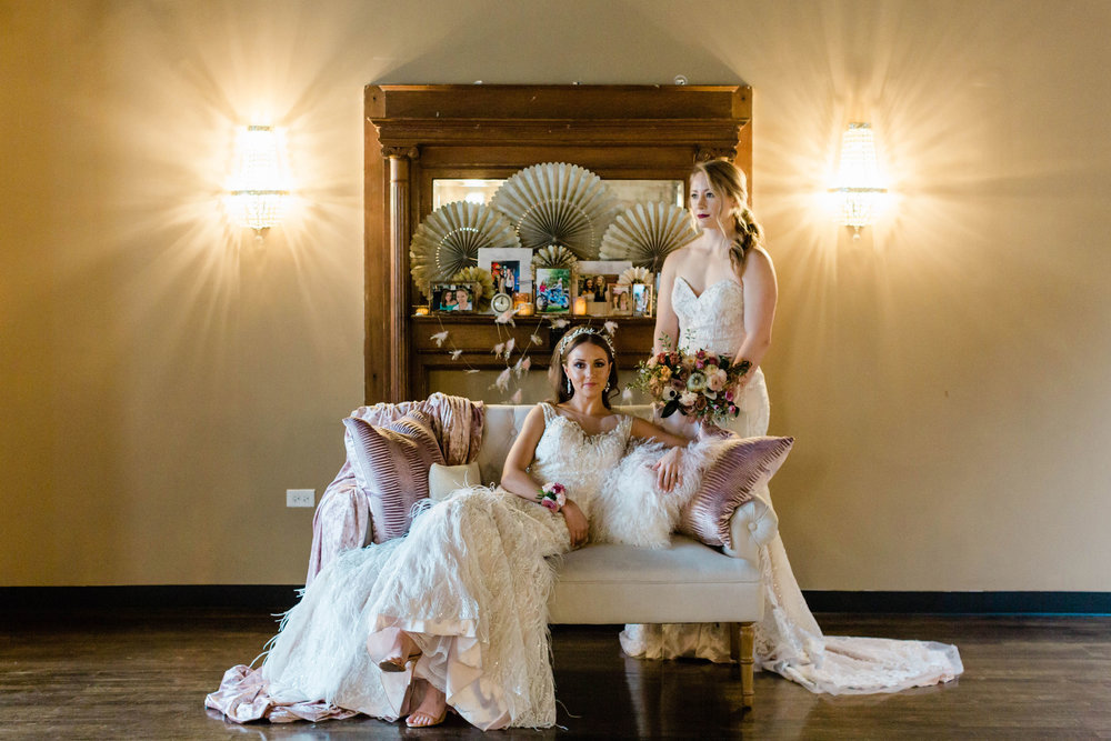 Bride and Bride Portrait LGBTQ Chicago Wedding Photography by Lauryn