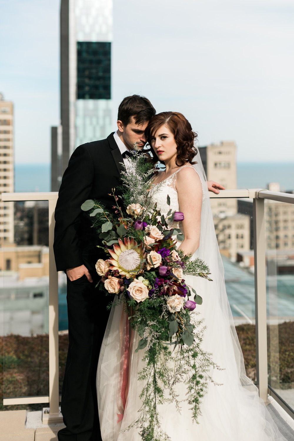 Chicago Rooftop Romance Styled Shoot