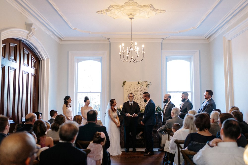Intimate Chicago Wedding Ceremony lisa kathan photography