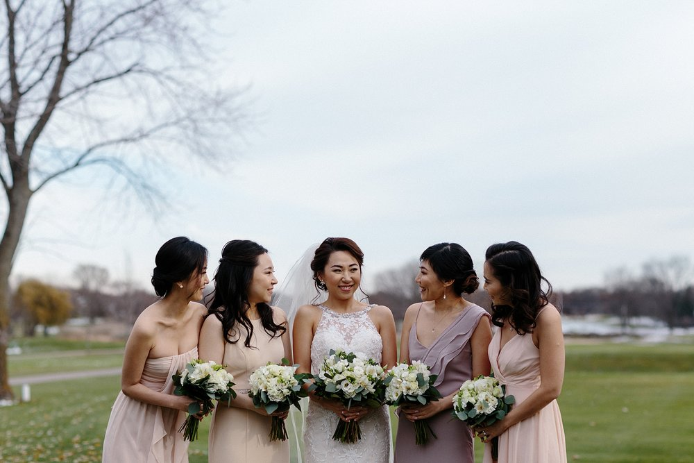 Pastel Bridal Party Chicago Wedding lisa kathan photography