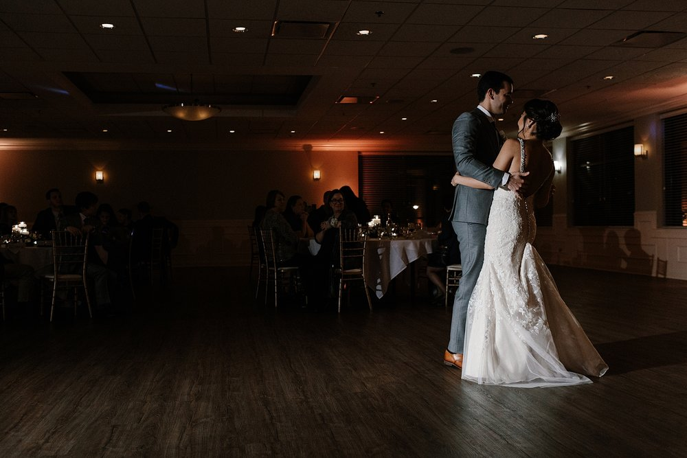 Bride and Groom First Dance Chicago Wedding lisa kathan photography