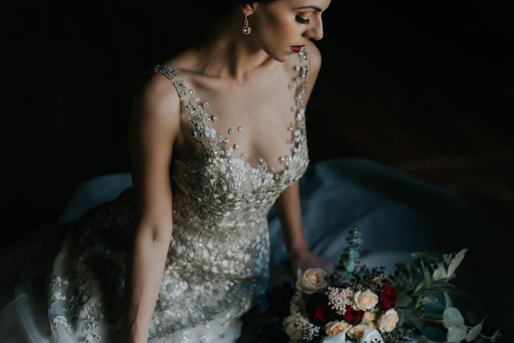 Detailed Vintage Wedding Gown Chicago Wedding lisa kathan photography