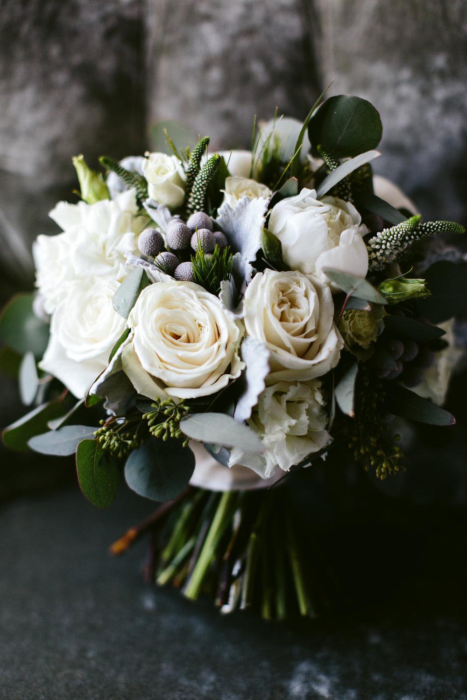 Rose Bridal Bouquet Chicago Wedding Nicodem Creative