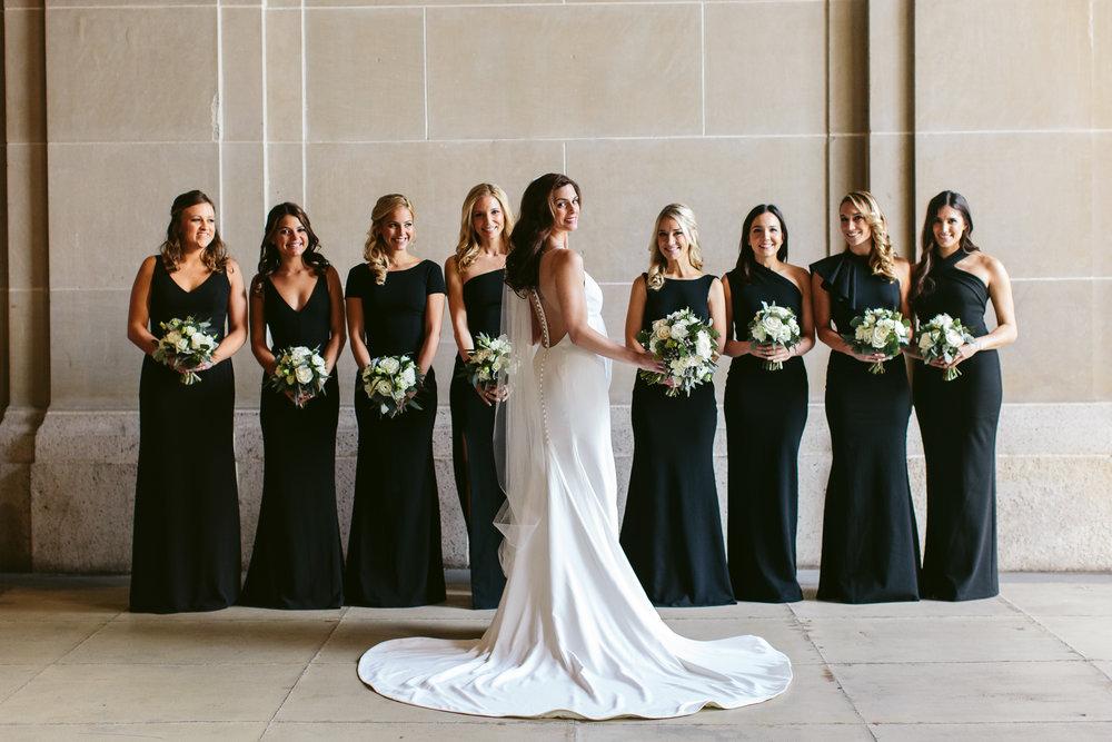 Black Bridesmaid Dresses Chicago Wedding Nicodem Creative