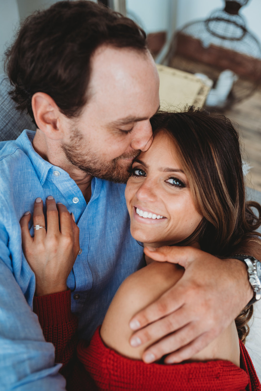 Cozy Chicago Home Engagement Shoot Lisa Kay Creative Photography