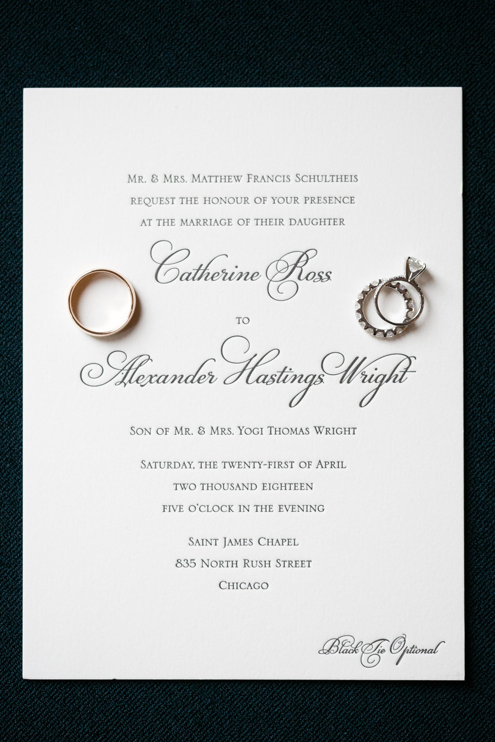 Classic Invitations Chicago Wedding Emilia Jane Photography