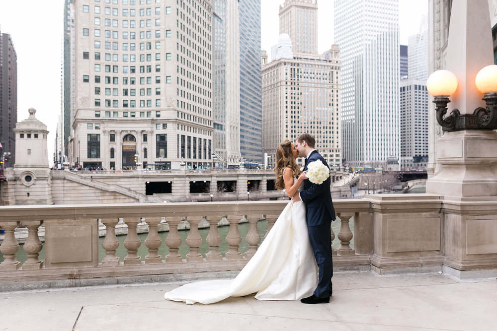 Bride and Groom Portrait Chicago Wedding Emilia Jane Photography