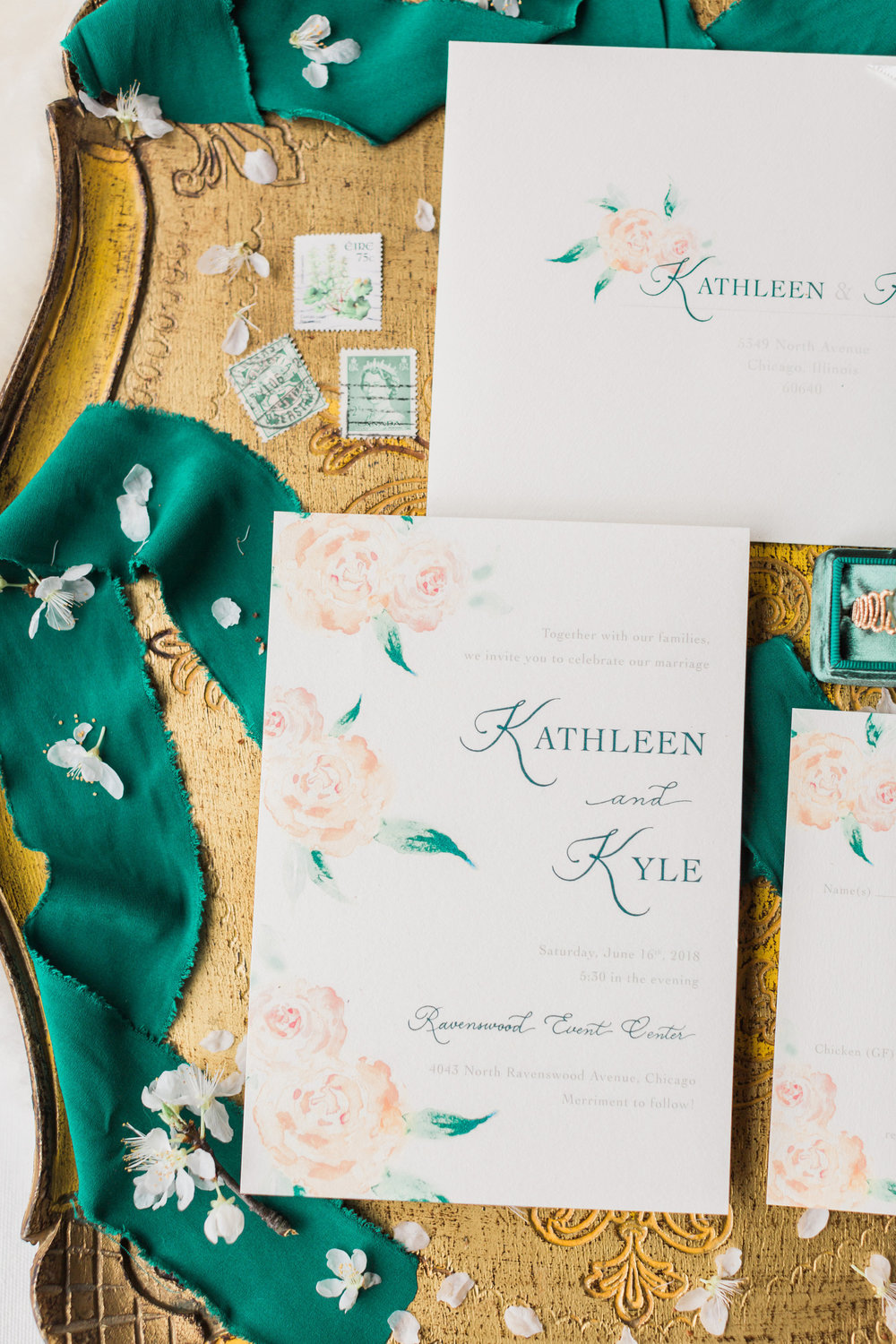 St. Patrick's Day inspired styled shoot at the Bridgeport Art Center, Chicago - planned by Once Upon a Wedding and captured by Tiffaney Childs. See more creative wedding ideas at CHItheeWED.com!