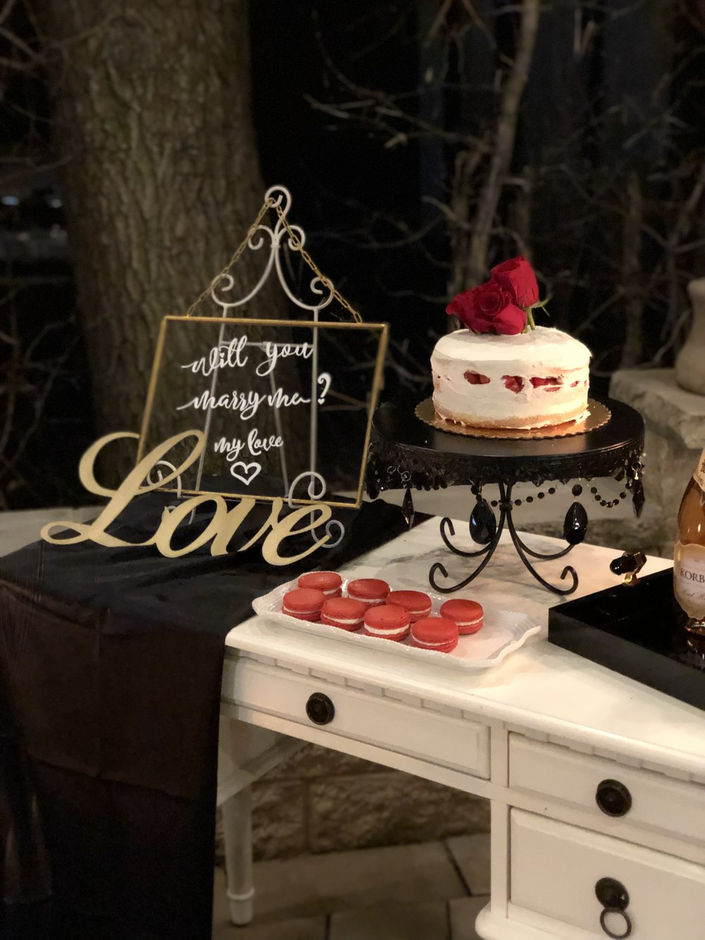 Romantic Chicago proposal planned by Heavenly Events. Find more engagement inspiration at CHItheeWED.com!