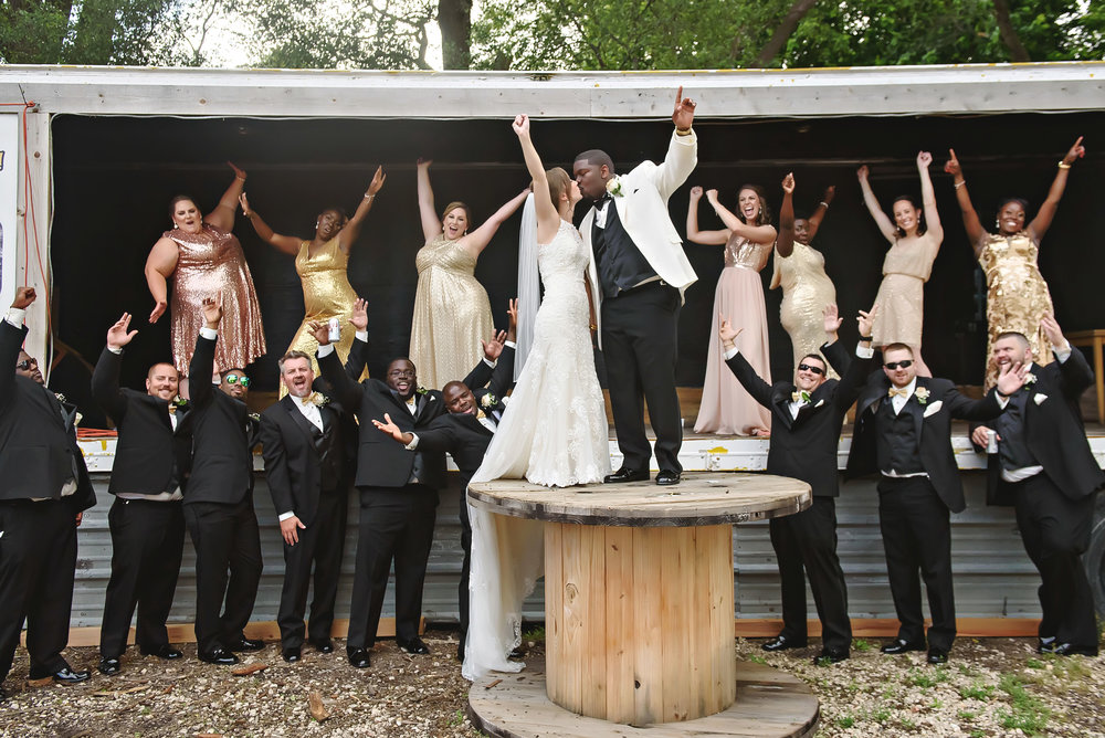 Black and gold rural Illinois wedding captured by Katelyn Turner Photography. See more wedding inspiration and decor ideas at CHItheeWED.com!