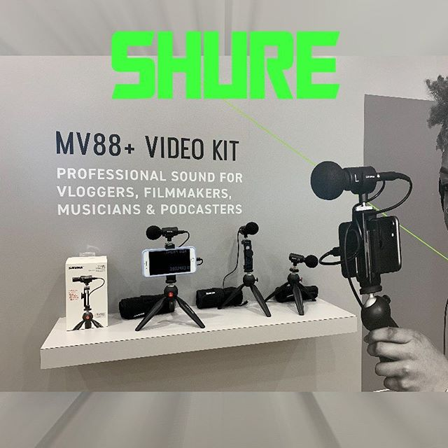 We got the opportunity to try out the MV88 + Video Kit at the @shure booth at @thenammshow and my lord I fell inlove with it! It's added to the top of the of gear I need to buy! Check out our review on poscast The Namm Show Episode! #nammshow #shure #microphones #recording #recordinggear #music #podcast #itunes #spotify #allaboutentertainment #hurrayforjosepodcast #mv88videokit
