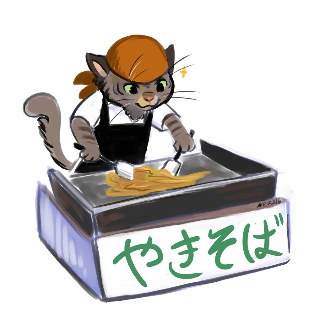 Matsuri: Yaki Soba Cat Concept