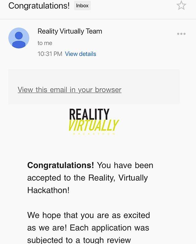 Should be fun! #realityvirtuallyhack #mitmedialab #vr #ar #xr #hackathon