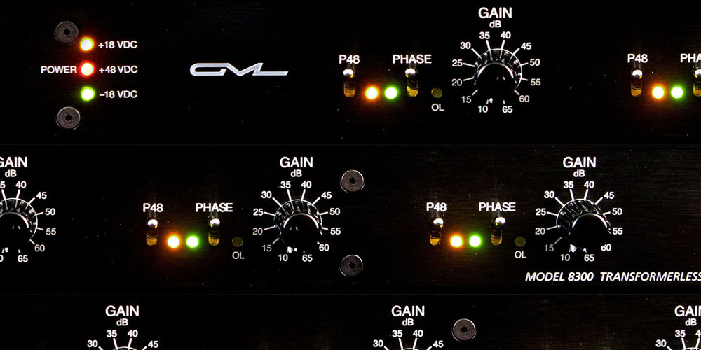 MICROPHONE PREAMPLIFIERS:  GML8300 Series Mic Preamps. Truly realistic - nothing but your mic!