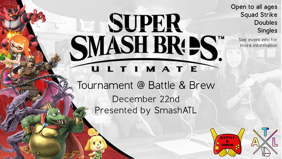 The First All Ages Smash Ultimate Tournament at Battle and Brew
