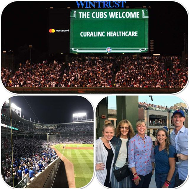 The CuraLinc team recently celebrated a #Cubs win on the deck in right field at #WrigleyField!
