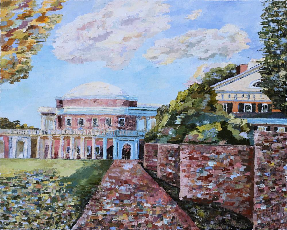 "- Rotunda and Pavilion I2018. oil on canvas. 16x20"".$300sold."