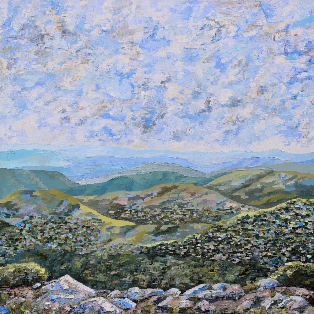 "- Blue Ridge (II)2018. oil on canvas. 36x36"".$800"