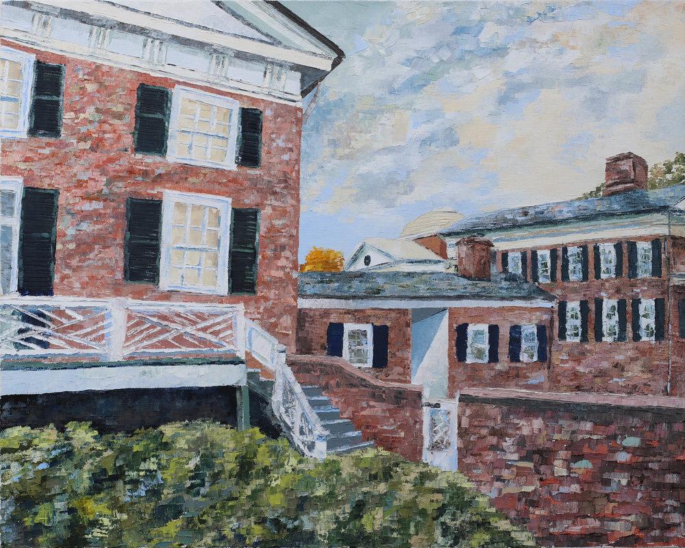 """- Garden IV2018. oil on canvas. 16x20"""".$300"""