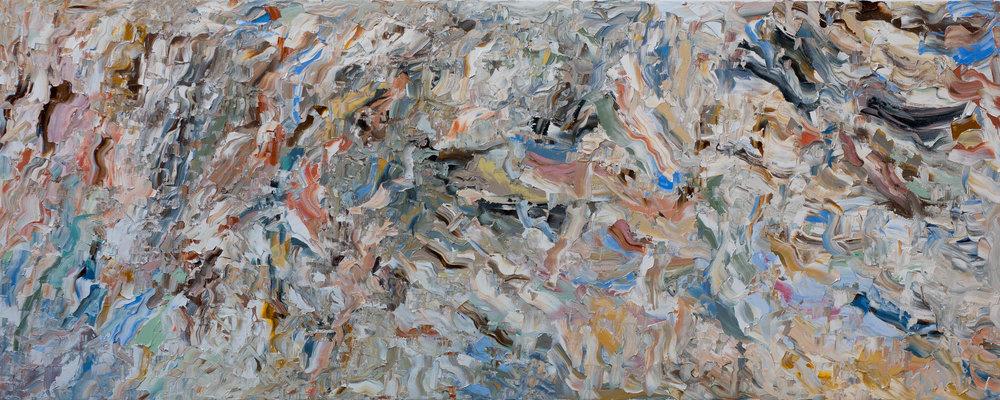"- 05.19.20182018. oil on canvas. 16x40"".$200"