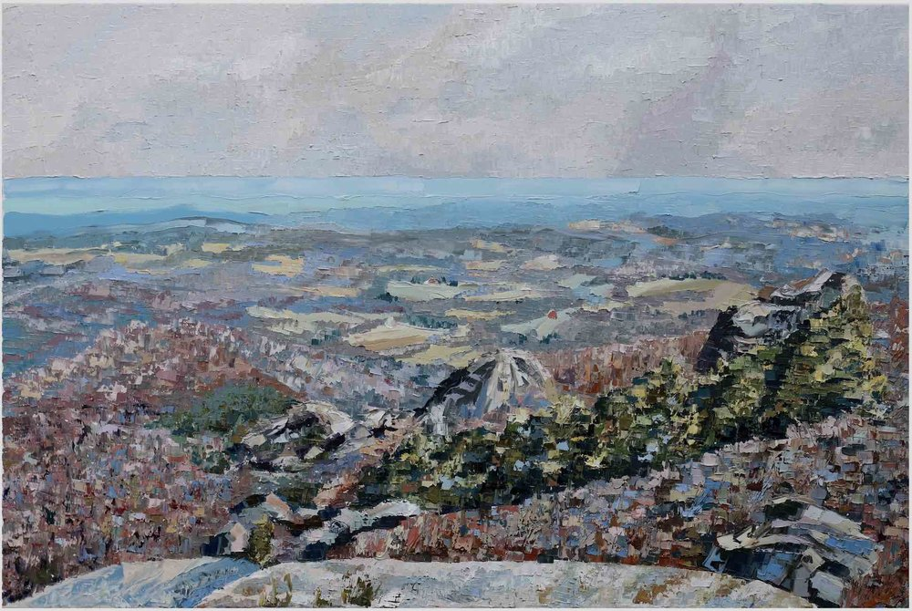 "Backroads (IV):Old Rag Summit - 2019. oil on canvas. 24x36"".Central Virginia.$800"