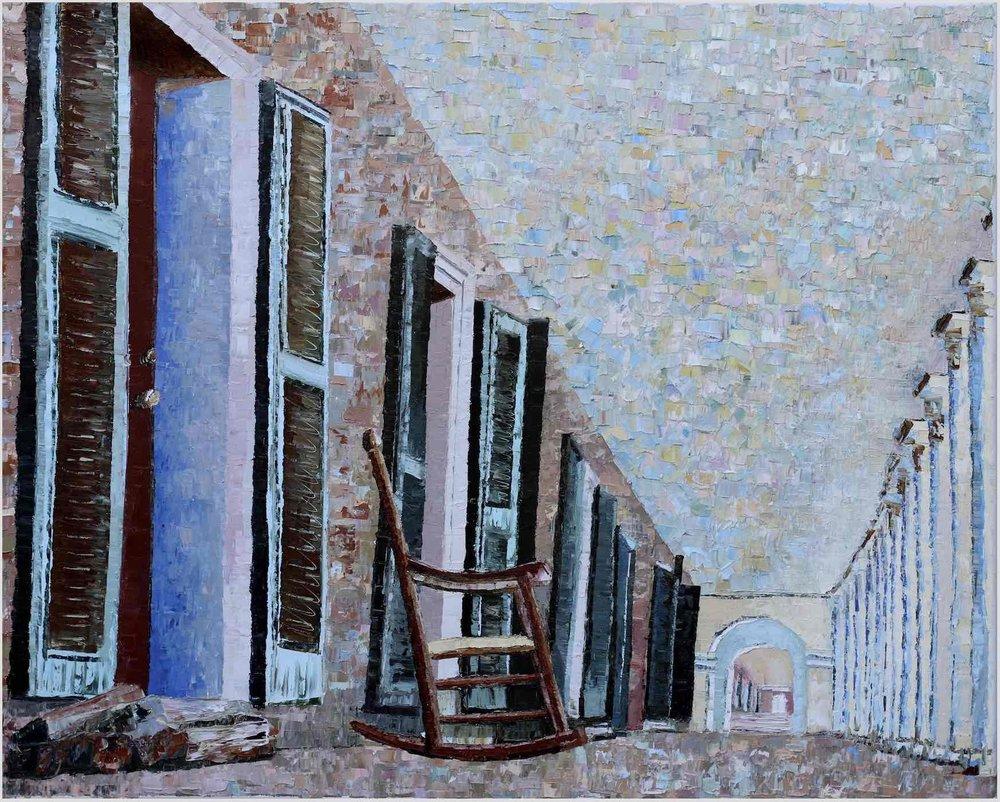 "Academical Village (VI) - 2019. oil on canvas. 24x30"".Charlottesville, Virginia."
